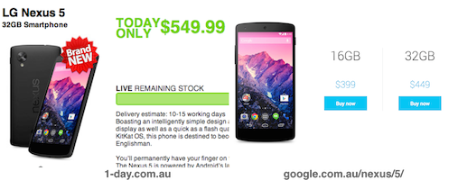 Horrendous deal on Nexus 5